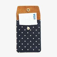 Super fun polka dotted card case