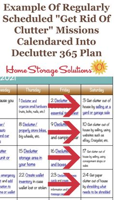 To help you get rid of the clutter in your home, the Declutter 365 missions regularly calendar missions to remove the clutter from your home {on Home Storage Solutions 101} #Decluttering #Declutter365 #Declutter Hardware Organizer, Car Websites, Life Run, Clutter Control, Getting Rid Of Clutter, Home Storage Solutions, Clutter Free Home, To Strive, Feeling Overwhelmed