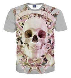 Spiral Direct GOTH WRAP AllOver Printed T-Shirt Plus//Goth//Biker//Rock//Top//3XL//4XL