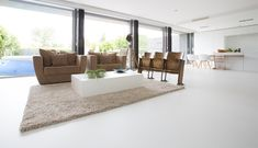 witte betonnen gietvloer - Google zoeken