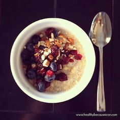 Quinoa for Breakfast  www.healthybecauseican.com