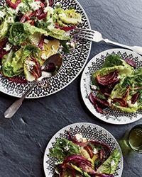 """""""Traditional Moroccan dishes can be quite heavy; I'm always looking for ways to make them lighter and brighter,"""" says cooking school teacher Tara Stevens. She tosses her beet salad with lettuce and tangy feta-yogurt dressing, and adds lots of fresh herbs.  Slideshow: More Beet Recipes"""