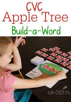 Life Over C's: Free CVC Word Building Apple Tree