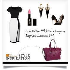 """"""":: STYLE INSPIRATION - Louis Vuitton M93406 Monogram Empriente Lumineuse PM ::"""" by the-attic-place on Polyvore"""