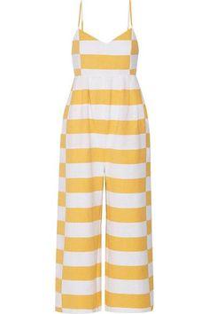 Mara Hoffman - Striped Organic Cotton Jumpsuit - Marigold
