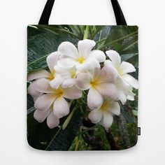 WHITE CLUSTER Tote Bag by Annie Koh - $22.00