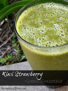 Kiwi Strawberry Green Smoothie is so refreshing and tasteful. It will quench your thirst and make you feel so energized!