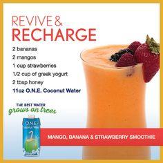 Mango, Banana & Strawberry Smoothie | O.N.E. Coconut Water