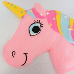 A Unicorn Birthday Cake - Little Button Diaries Full tutorial for how to make a unicorn birthday cake, great for kids parties. Birthday Cake Girls, Unicorn Birthday Parties, Birthday Ideas, 5th Birthday, Purple Birthday, Horse Birthday, Happy Birthday, How To Make A Unicorn Cake, Easy Unicorn Cake