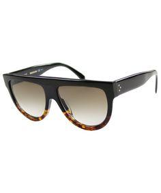 Celine Celine CL 41026 FU5 Flattop Plastic Sunglasses
