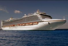 The Caribbean Princess at sea. Learn more about her here.