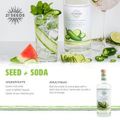 Tequila Soda, Tequila Mixed Drinks, Fun Drinks Alcohol, Alcoholic Drinks, No Calorie Foods, Low Calorie Recipes, Valencia Orange, Soda Recipe, Thing 1