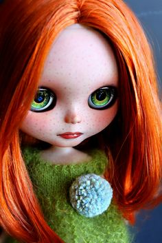 Untitled | Flickr - Photo Sharing! (Red-haired, green-eyed, freckled, Blythe doll)