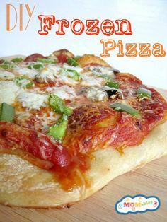 Make these homemade frozen pizzas to store in your freezer. The perfect quick and easy meal for busy days.