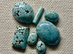 All Natural Number 8 Turquoise it's all about the web and the blacker the better