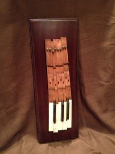 Antique Upcycled Piano Key Art Unique Gift Set by inorder2organize, $150.00
