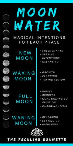 Moon water intentions How To Make Moon Water Witchcraft Spell Books, Wiccan Spell Book, Wiccan Witch, Witch Spell, Green Witchcraft, Wiccan Art, Wiccan Decor, Spells For Beginners, Witchcraft For Beginners