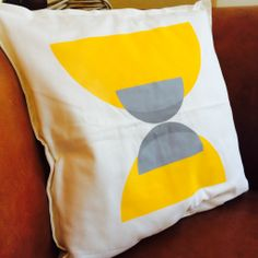 Hand printed, bespoke cushion cover by www.amylanyon.co.uk
