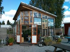 greenhouse from old windows | Greenhouse made with old windows. Gorgeous! | Garden/Yard Ideas