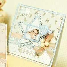 Wonderful card, made by Maja Novak. Using the Vintage Baby collection.