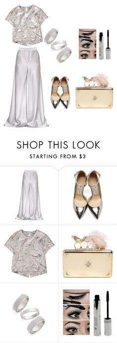 """""""Untitled #86"""" by theslw ❤ liked on Polyvore featuring Etro, Jimmy Choo, ADAM, Alexander McQueen, Topshop, trending, brocade and wideleg"""