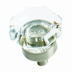Amerock BP55266-CG10 Traditional Classics 1-inch Clear Glass Knob with Satin Nickel Base - Amazon.com