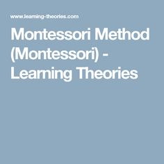 Montessori Method is an approach to education which emphasizes individuality and independence in learning; children are seen as inherently curious and learning driven. Learn Drive, Learning Theory, Montessori, Education, Onderwijs, Learning