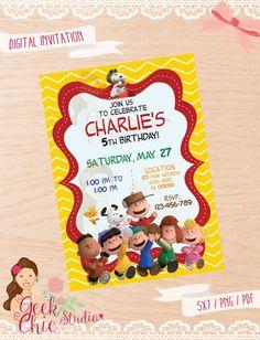 Invitación de cacahuetes invitación de Charlie por GeekChicStudio