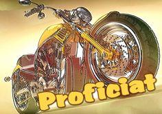 Proficiat motor geel (Kaartland wenskaarten)