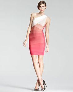One-Shoulder Bandage Dress by Herve Leger at Neiman Marcus.
