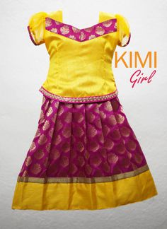 blouse designs for pattu pavadai for girls - Page Not Found - Yahoo India Image Search results Frocks For Girls, Kids Frocks, Little Girl Dresses, Salwar Designs, Kids Lehenga, Indian Lehenga, Kids Ethnic Wear, Kids Blouse Designs, Frocks And Gowns