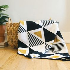 Envie Throw {Paris} -- Soft and cozy throws made in the USA from recycled cotton. Seek & Swoon throws are inspired by travel and beautiful places around the world. Quilt Baby, Colchas Quilt, Owl Quilts, Patchwork Quilt Patterns, Modern Quilt Patterns, Modern Baby Quilts, Crazy Patchwork, Patchwork Designs, Modern Quilting Designs