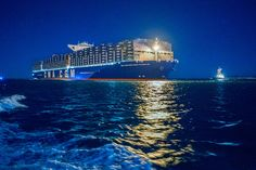 The CMA CGM BENJAMIN FRANKLIN, a giant in the U.S.