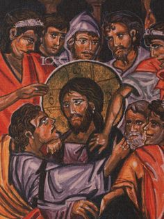 Easter byzantine icon art print Treason of Judas  by angelicon, €32.00