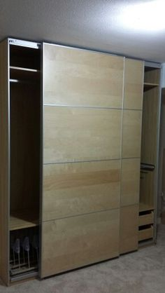 Ikea Galant Filing Cabinet With Sliding Doors Assembled In
