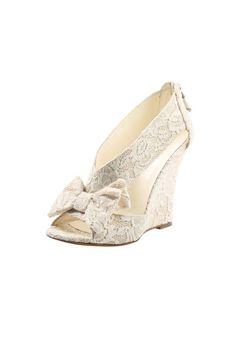 Bow Lace Wedge : Shoptiques