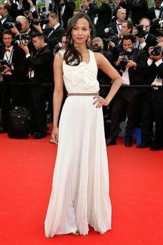 Zoe Saldana in Victoria Beckham Cannes Film Festival 2014