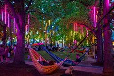 People in hammocks at Spruce Street Harbor Park (Philly) Philadelphia Things To Do, Historic Philadelphia, Visit Philadelphia, The Places Youll Go, Places To Go, Harbor Park, Weekend Festival, Electric Forest, Electric Daisy