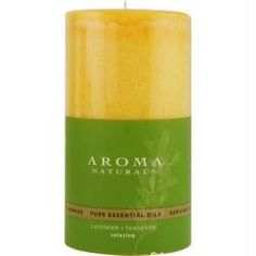 ONE 2.75 X 5 inch PILLAR AROMATHERAPY CANDLE. COMBINES THE ESSENTIAL OILS OF LAVENDER AND TANGERINE TO CREATE A FRAGRANCE THAT REDUCES STRESS. BURNS APPROX. 75 HRS Design House: Relaxing Aromatherapy Fragrance Notes: Lavender And Tangerine