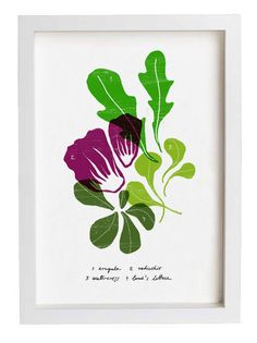 SALAD  Kitchen Art Print / Food Art / high quality fine by anek, $30.00