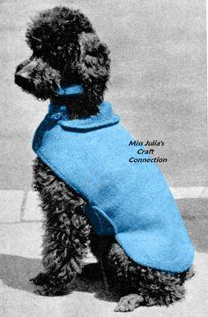 Miss Julia's Vintage Knit & Crochet Patterns: Free Patterns - 20+ Dog Sweater Coats to Knit & Crochet