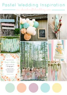 Pastel Wedding Ideas | ahandcraftedwedding.com Ways to incorporate #pastels into your vintage, whimsical, rustic or traditional #wedding