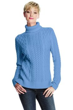 Women S Drifter Cable Sweater From Lands End Comes In