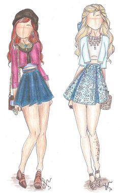 Disney Princess Fashion | Anna and Elsa by VianaDrawings on DeviantArt