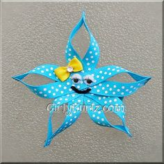 Turquoise+Starfish+Hair+Clip+Beach+Hair+Clip+Star+by+GirlyKurlz,+$5.00