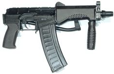 SR-3M Vikhr compact assault rifle, current issue model, with 'new pattern' 30-round magazine.