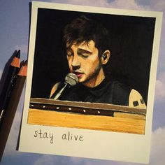 Stay Alive Print of Polaroid Drawing by thisismyshopbye on Etsy