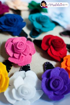 what madeleine loves: Felt Project: Felt Rose Barrettes