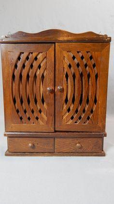 Beautiful Vintage Spice Rack Cupboard   Wood by SlyfieldandSime, $48.00