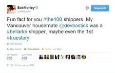 Devon Bostick (Jasper Jordan), the first Bellarke shipper    The 100 cast    Bob Morley (Bellamy Blake) on twitter